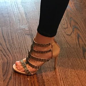 Steve Madden jeweled heels